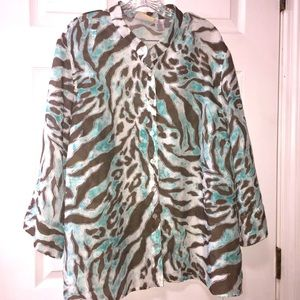 Alfred Dunner Woman's Button Down Plus size Shirt